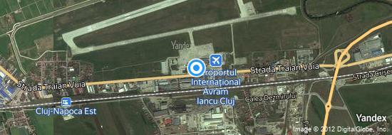 Flughafen Cluj - Karte