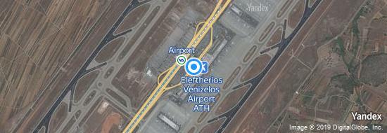 Flughafen Athen - Karte