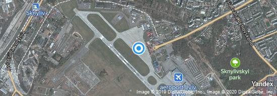 Aéroport de Lviv- carte