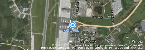 Aéroport de Riga- carte