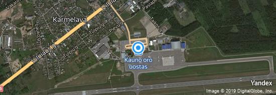 Flughafen Kaunas - Karte