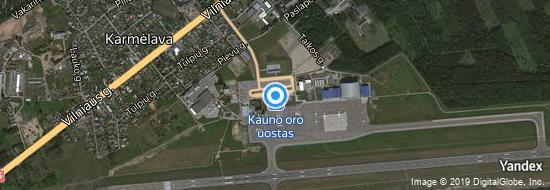 Aéroport de Kaunas- carte