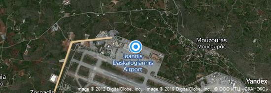 Flughafen Chania - Karte