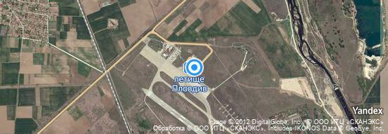 Aéroport de Plovdiv- carte