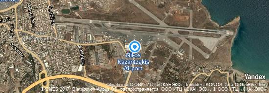 Flughafen Heraklion - Karte