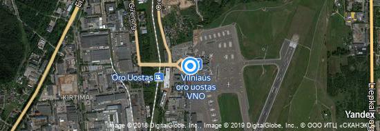 Flughafen Vilnius - Karte