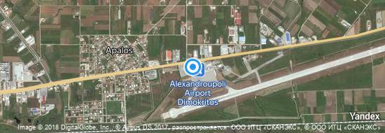 Flughafen Alexandroupolis - Karte