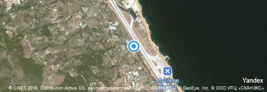 Flughafen Mytilene - Karte