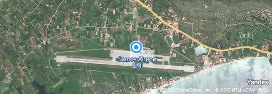 Flughafen Samos - Karte