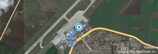 Flughafen Burgas - Karte