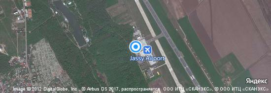 Flughafen Iasi - Karte
