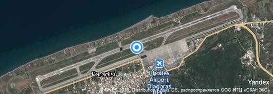 Airport Rhodes - Map