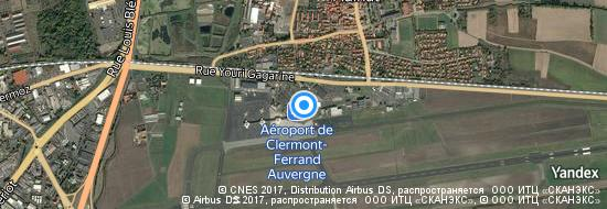 Aéroport de Clermont-Ferrand Aulnat- carte