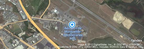 Aéroport de Montpellier-Méditerranée- carte