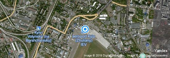 Flughafen Kiew Schuljany - Karte
