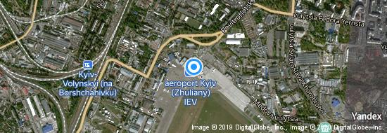 Airport Kiev Zhuliany - Map