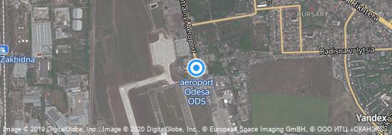 Flughafen Odessa - Karte