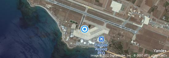 Flughafen Paphos - Karte