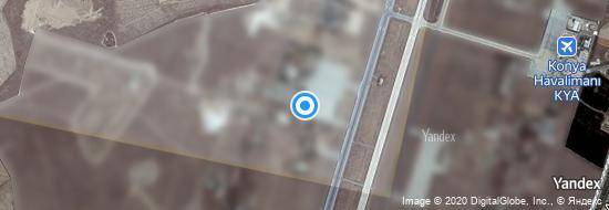 Aéroport de Konya- carte