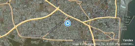 Flughafen Larnaka - Karte