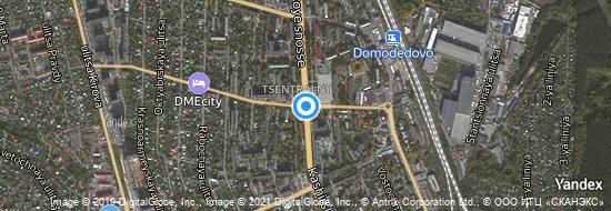Aéroport de Moskou-Domodedovo- carte