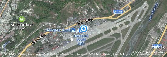 Flughafen Sotschi - Karte