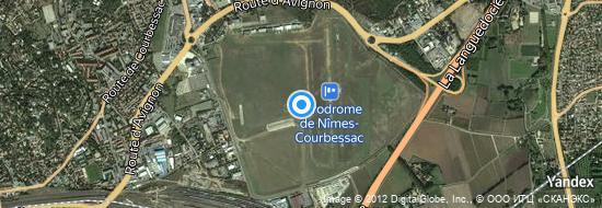Aeropuerto Nimes - mapa
