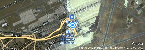 Aéroport de Bruxelles-National- carte