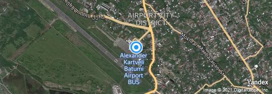 Aéroport de Batumi- carte