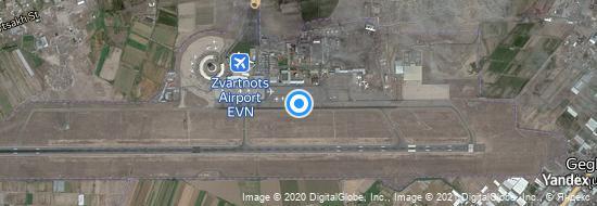 Aeropuerto Yerevan - mapa