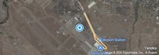Aéroport de Tbilissi-Chota Roustavéli- carte