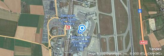 Aéroport de Lyon-Saint-Exupéry- carte