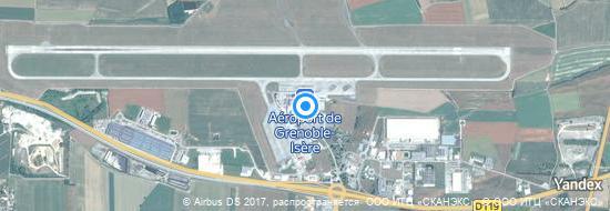 Aéroport de Grenoble-Isère St Geoirs- carte
