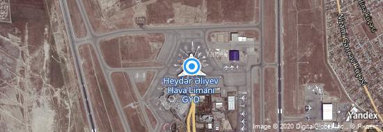 Flughafen Baku - Karte