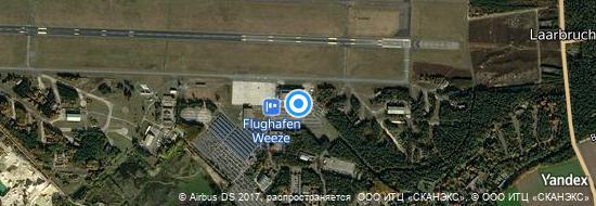 Aéroport de Weeze- carte