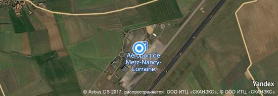 Aéroport de Metz Nancy Lorraine- carte