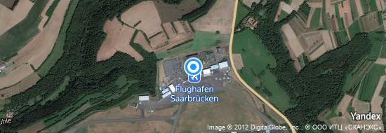 Flughafen Saarbrücken - Karte