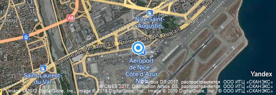 Aéroport de Nice-Côte d`Azur- carte