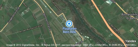Flughafen Bern - Karte