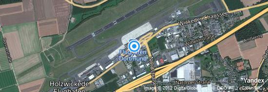 Aéroport de Dortmund- carte