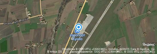 Аэропорт Кунео - Карта