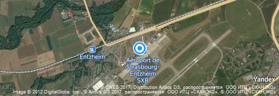 Aeroporto Estrasburgo - mapa