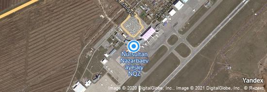 Flughafen Astana - Karte