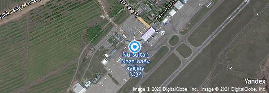 Aéroport d'Astana- carte