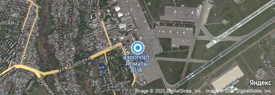 Аэропорт Алмата - Карта