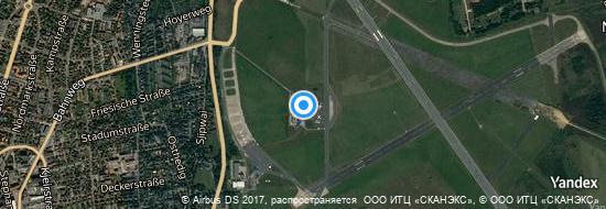 Aéroport de Sylt Westerland- carte