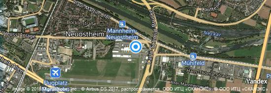 Flughafen Mannheim - Karte