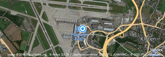 Aeropuerto Zurich - mapa