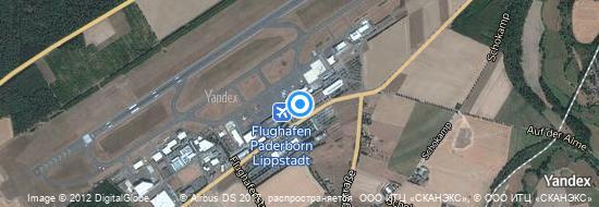 Flughafen Paderborn - Karte
