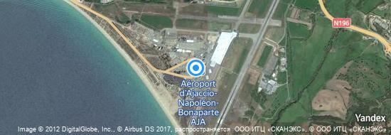 Aéroport d'Ajaccio-Napoléon-Bonaparte- carte